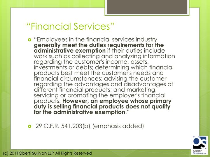 """Financial Services"""