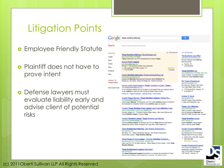 Litigation Points