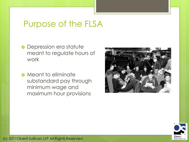 Purpose of the FLSA