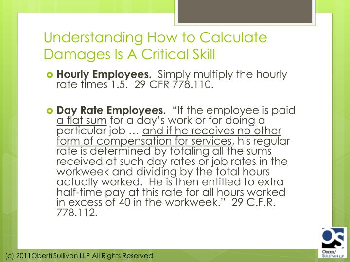 Understanding How to Calculate Damages Is A Critical Skill