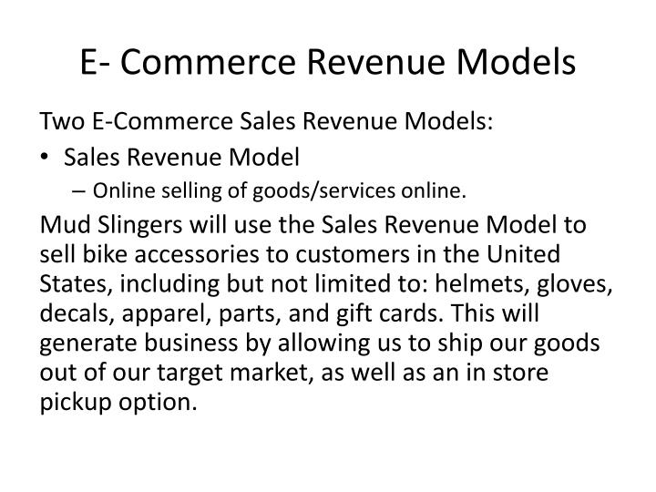 E- Commerce Revenue Models