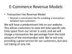e commerce revenue models1