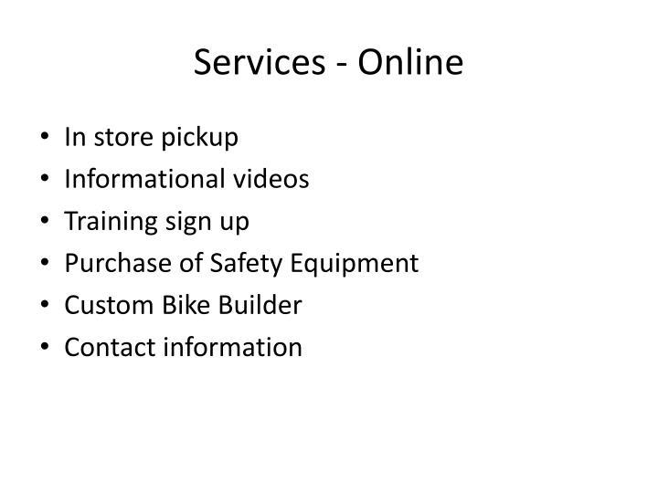 Services - Online