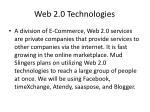 web 2 0 technologies