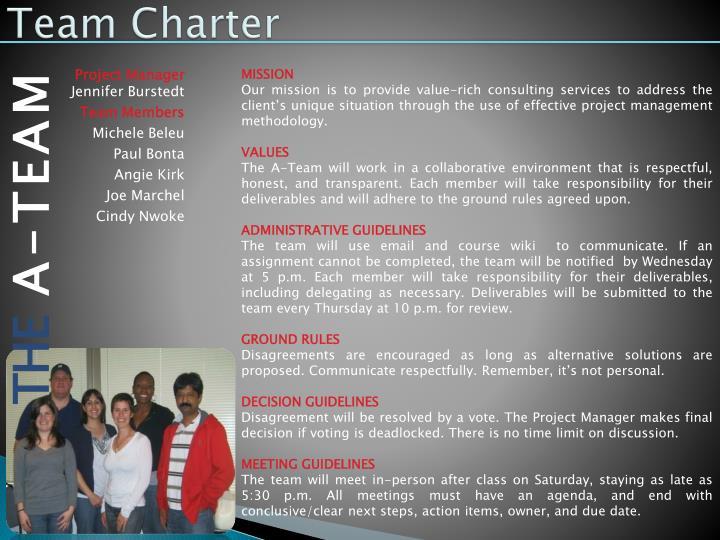 Team Charter