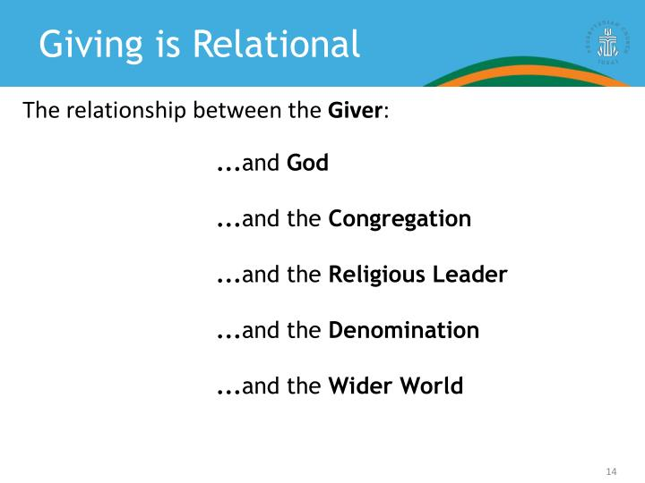 Giving is Relational