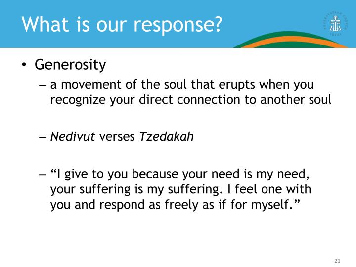 What is our response?