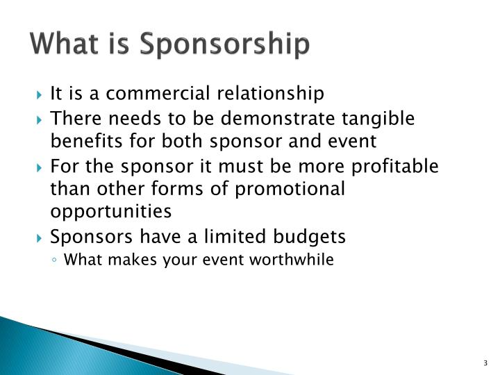 What is Sponsorship
