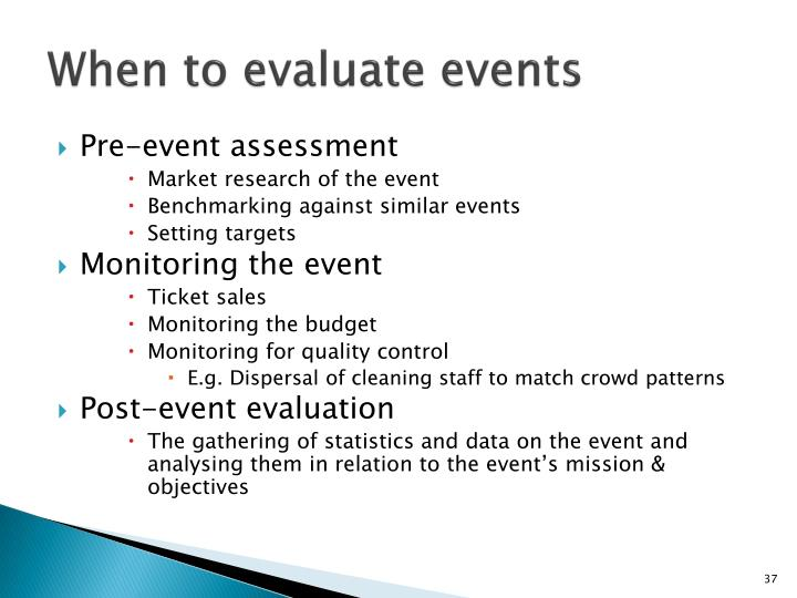 When to evaluate events
