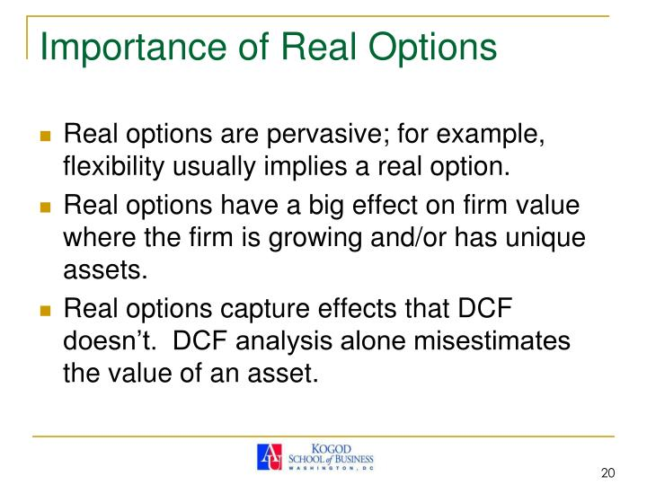 Importance of Real Options