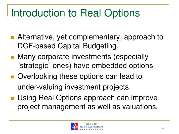 Introduction to Real Options