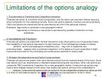limitations of the options analogy