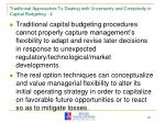 traditional approaches to dealing with uncertainty and complexity in capital budgeting 4