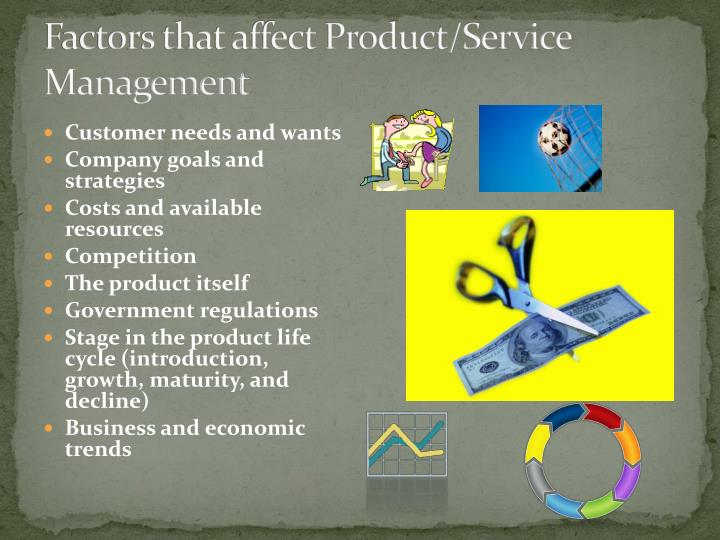 Factors that affect Product/Service Management