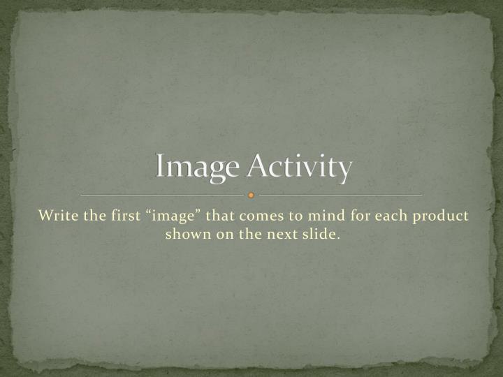 Image Activity