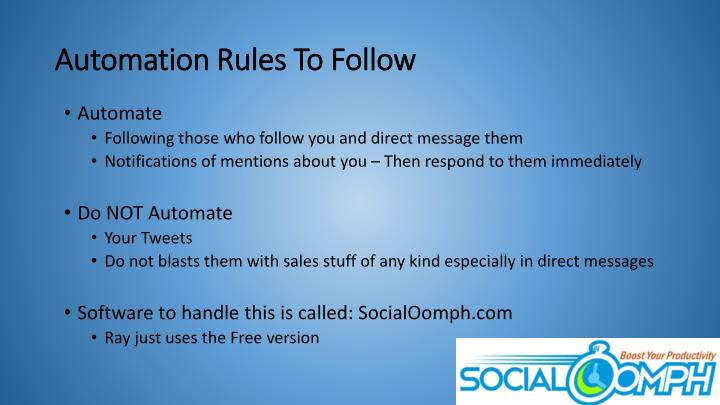 Automation Rules To Follow