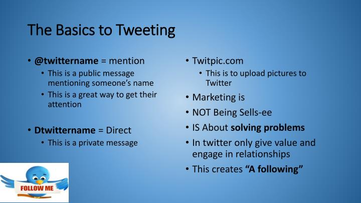 The basics to tweeting