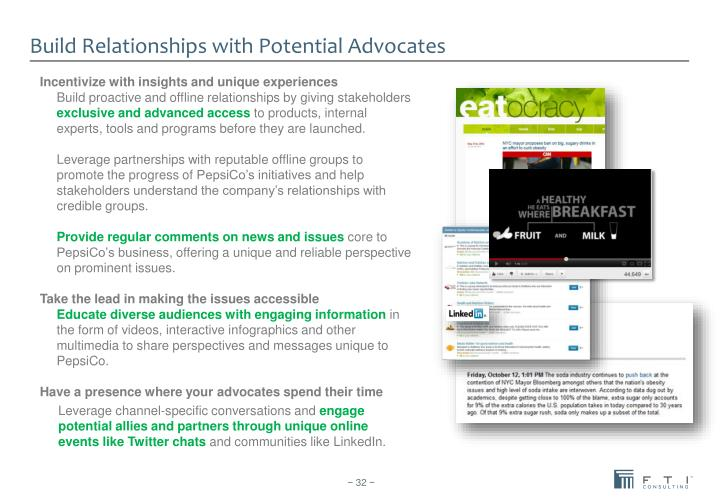Build Relationships with Potential Advocates