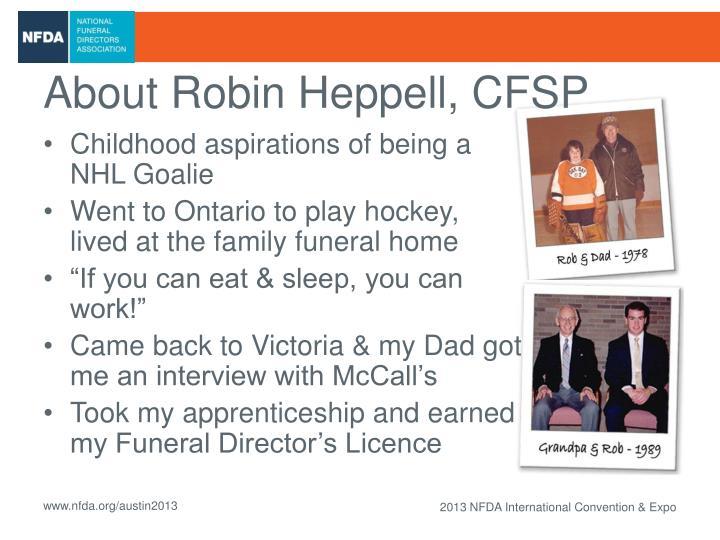 About Robin Heppell, CFSP