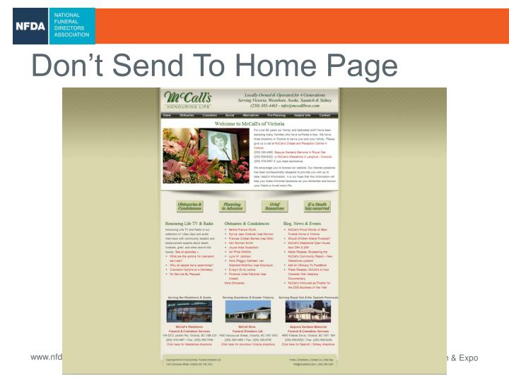 Don't Send To Home Page