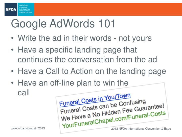 Google AdWords 101