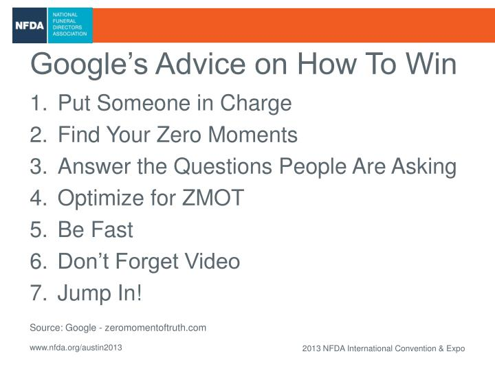 Google's Advice on How To Win