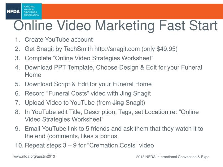 Online Video Marketing Fast Start