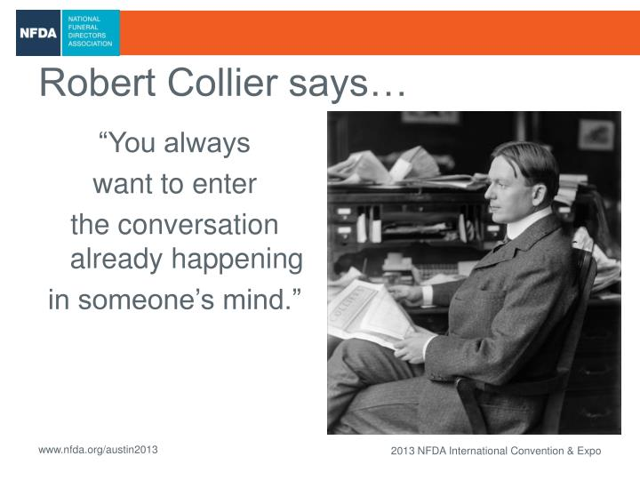 Robert Collier says…