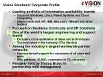 vision solutions corporate profile