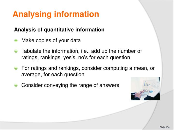 Analysing information