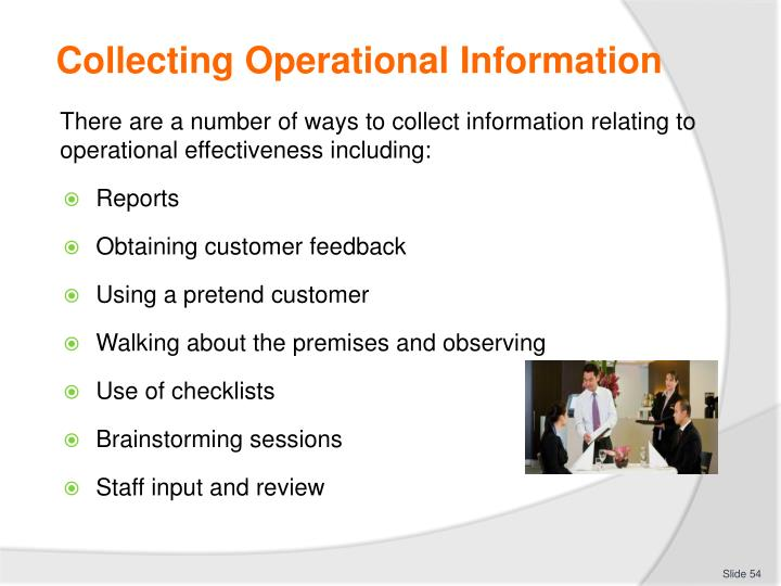 Collecting Operational Information