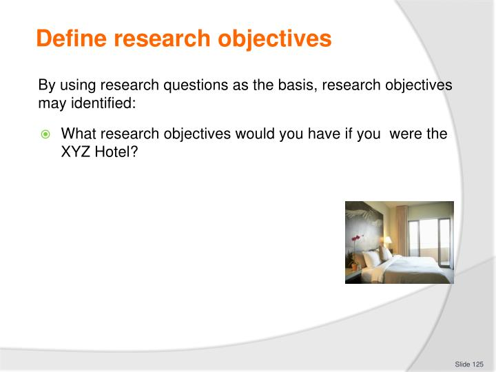 Define research objectives
