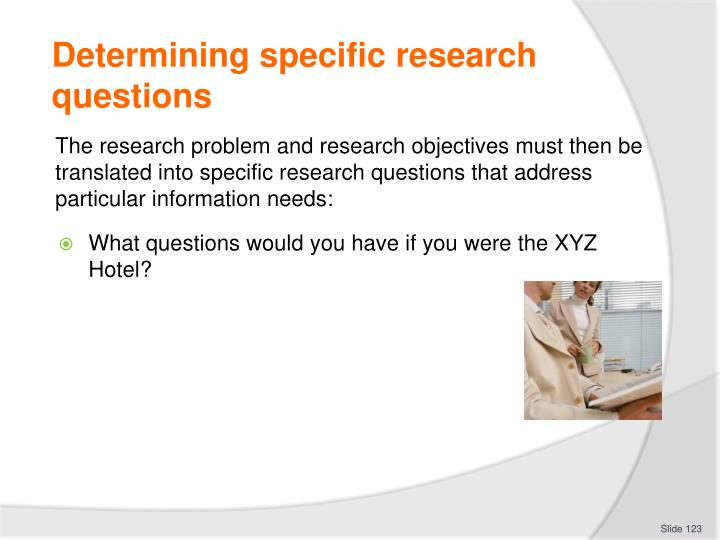 Determining specific research questions