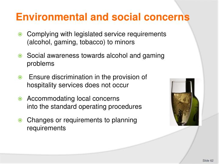 Environmental and social concerns