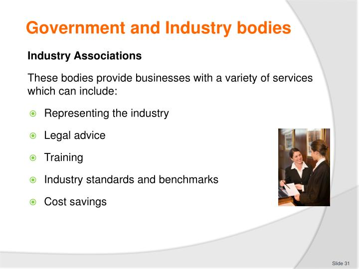 Government and Industry bodies