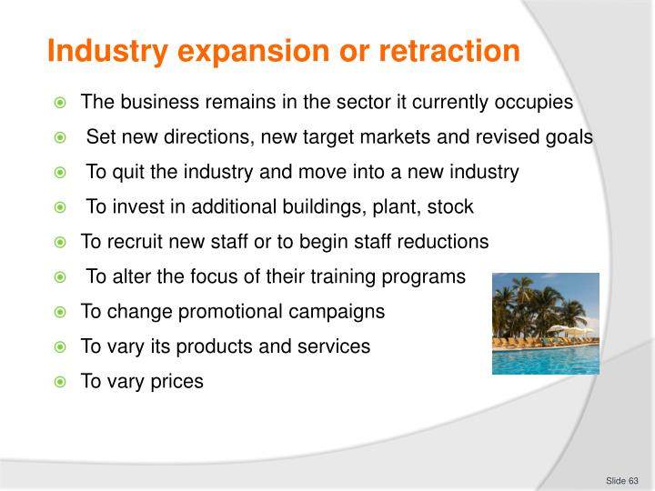 Industry expansion or retraction