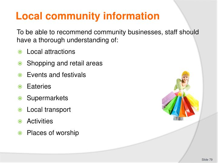 Local community information