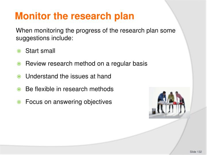 Monitor the research plan