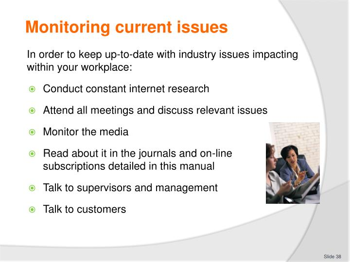 Monitoring current issues