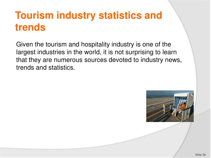 Tourism industry statistics and trends