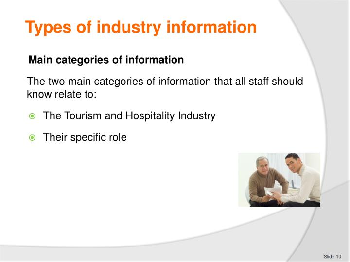 Types of industry information