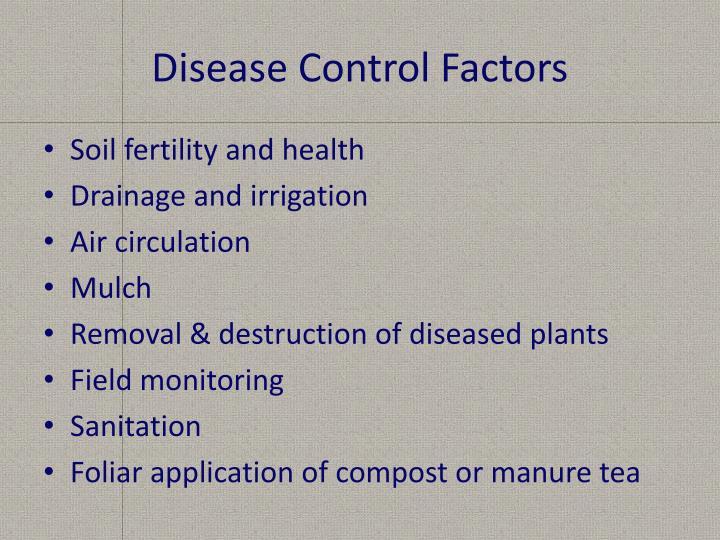 Disease Control Factors