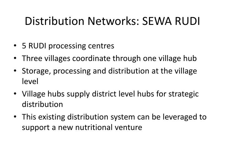 Distribution Networks: SEWA RUDI
