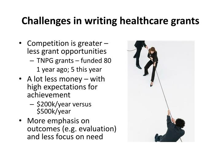 Challenges in writing healthcare grants
