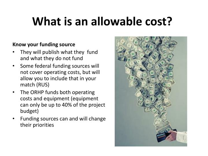 What is an allowable cost?