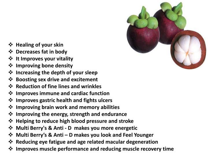 Healing of your skin