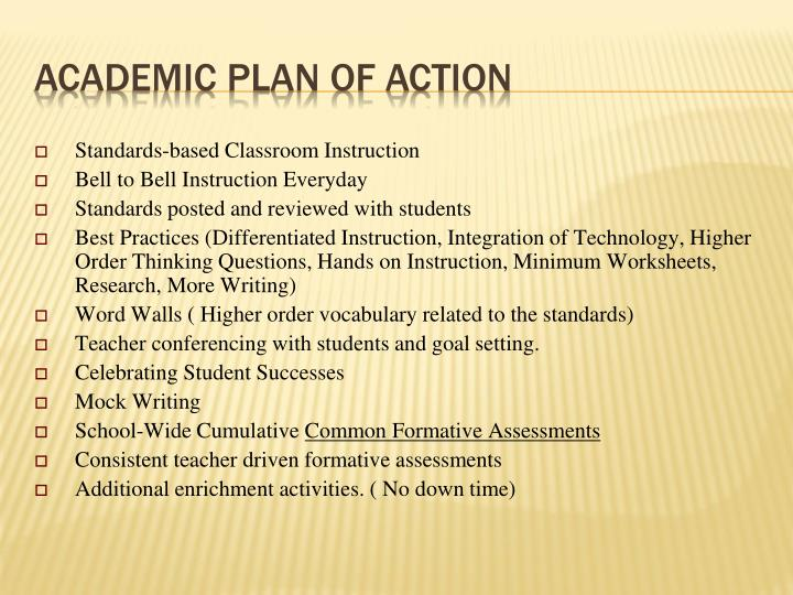 Standards-based Classroom Instruction