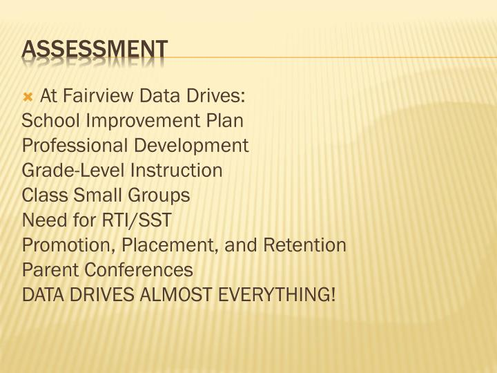At Fairview Data Drives: