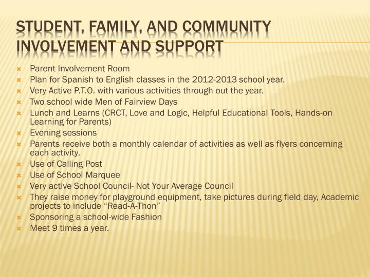 Parent Involvement Room