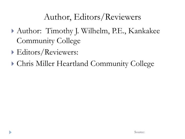 Author editors reviewers